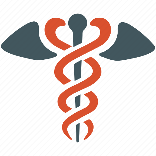 caduceus silhouette, medical caduceus, pharmacy icon