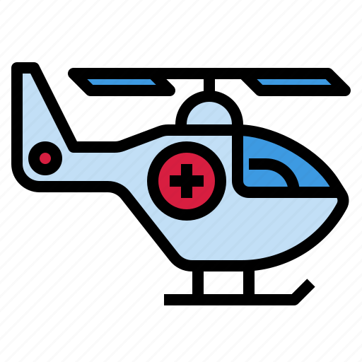 air, ambulance, emergency, helicopter, hospital icon
