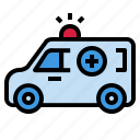 ambulance, car, hospital, medical, service icon