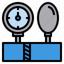 blood, check, healthy, pressure, sphygmomanometer icon