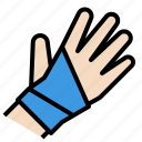 bandage, broken, hand, injury, sport, support, wrist icon