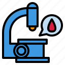diagnosis, hospital, investigation, laboratory, microscope, science icon