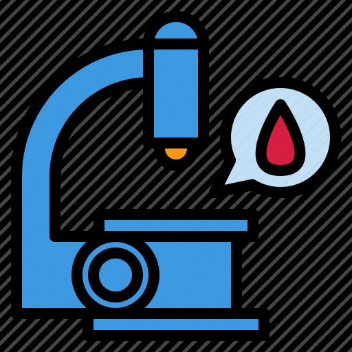 diagnosis, hospital, investigation, laboratory, microscope, science icon