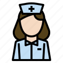 care, health, hospital, nurse, service, woman icon