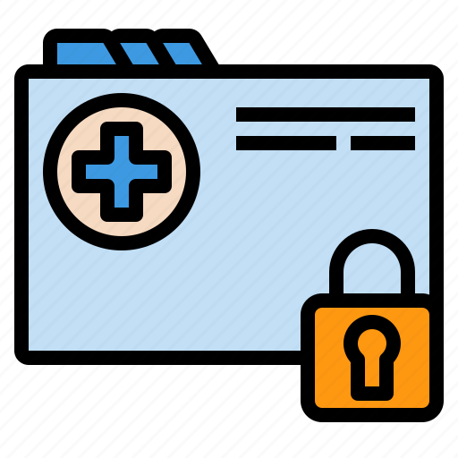 confidential, data, health, hospital, patient, privacy, security icon