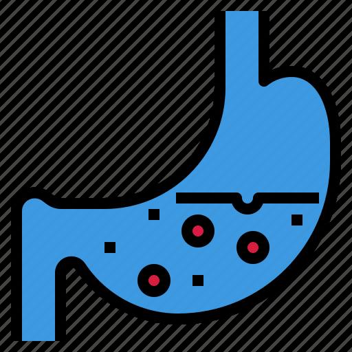 digestion, flatulence, gastric, juice, stomach icon