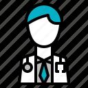 care, doctor, health, hospital, man, service icon