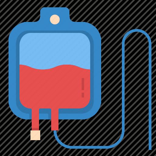blood, hospital, medical, sac, saline, transfusion icon