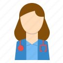 care, doctor, health, hospital, service, woman icon