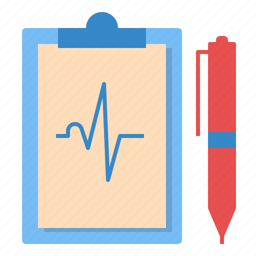 beat, cardiograph, ekg, heart, hospital, result icon