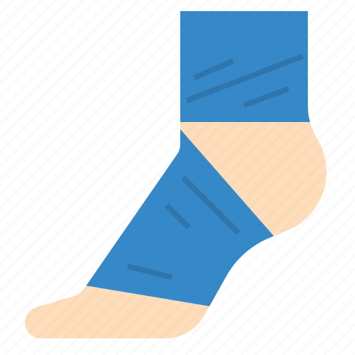 ankle, bandage, foot, injury, stability, support icon