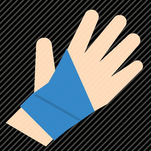bandage, broken, hand, injury, sport, support, wrist icon