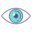 eyeball, eyes, eyesight, health, look, sight, vision icon