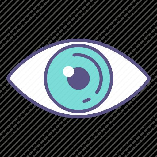 eyeball, eyes, eyesight, health, look, sight, vision icon
