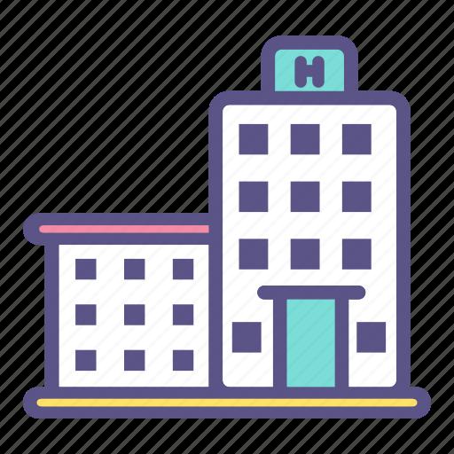 building, care, clinic, health, healthcare, hospital, medical icon