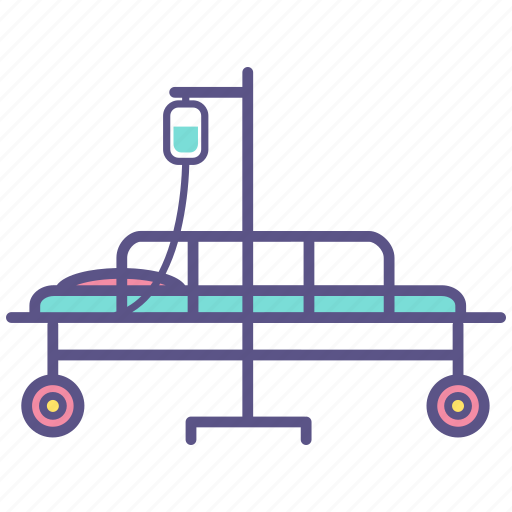 bed, emergency, healthcare, hospital, medical, patient, stretcher icon
