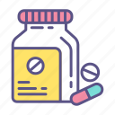 antibiotic, medication, medicine, pharmacy, pill, tablet, vitamin icon
