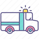 accident, ambulance, car, emergency, hospital, medical, rescue icon