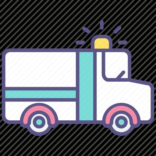 accident, ambulance, car, emergency, hospital, medical, rescue icon