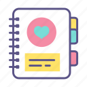 book, diagnosis, health, healthcare, medical, patient, record icon