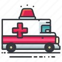 ambulance, emergency, hospital, transport, transportation, vehicle icon