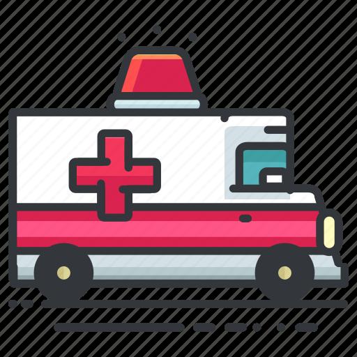 ambulance, emergency, hospital, transport, transportation, vehicle icon