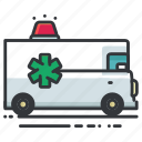 ambulance, emergency, medical, transport, transportation, vehicle icon