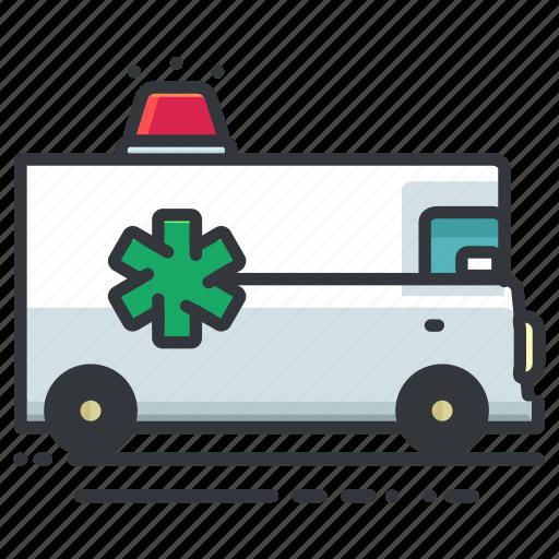 ambulance, emergency, medical, transport, transportation, vehicle icon