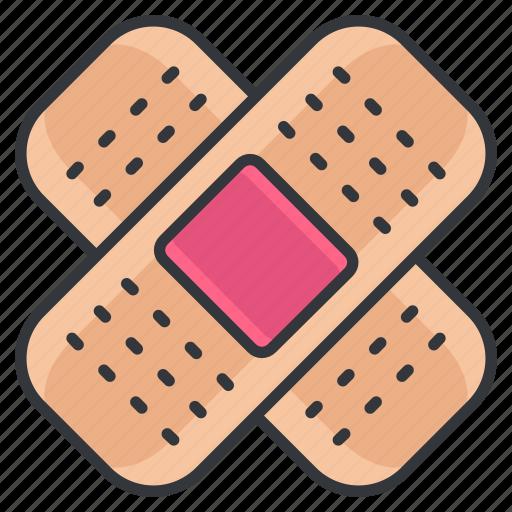 bandage, bandages, health, healthcare, medical, medicine, plaster icon