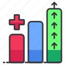 analytics, bar, chart, graph, healthcare, medical, statistics icon
