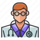avatar, doctor, man, medical, person, user icon