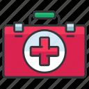 aid, box, first, health, healthcare, medical