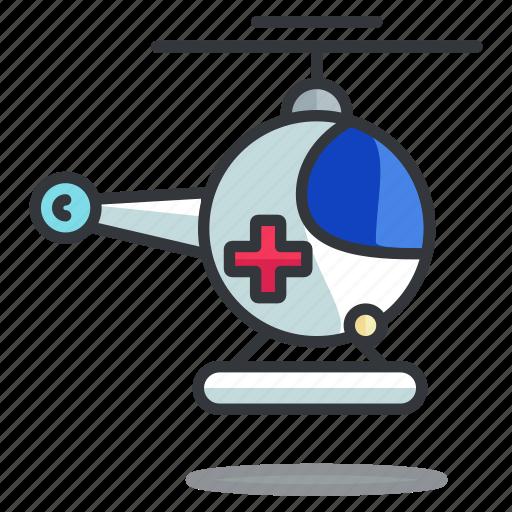 emergency, helicopter, medical, transport, transportation, vehicle icon