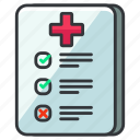 care, chart, checklist, health, healthcare, list, medical icon