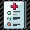 care, chart, checklist, health, healthcare, list, medical icon