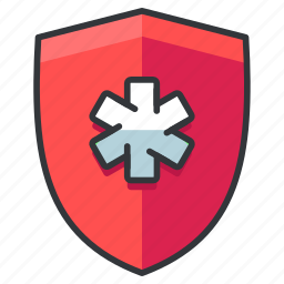 health, healthcare, medical, security, shield icon