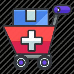 cart, healthcare, medical, medicine, shopping icon