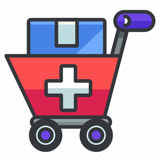 cart, healthcare, medical, medicine, shopping icon