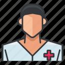 man, nurse, avatar, medical, person, profile, user