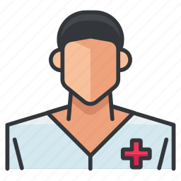 avatar, man, medical, nurse, person, profile, user icon