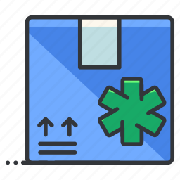 box, delivery, healthcare, medical, package, shipping icon