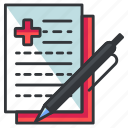 chart, medical, medicine, statistics, write icon