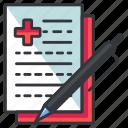 chart, medical, medicine, statistics, write icon