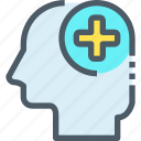 healthcare, hospital, human, medical, mind icon