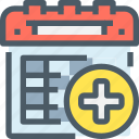 calendar, healthcare, hospital, medical icon