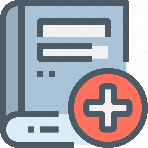 book, healthcare, hospital, medical icon