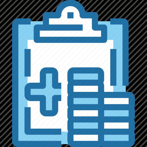 document, hospital, medical, pharmacy, report icon