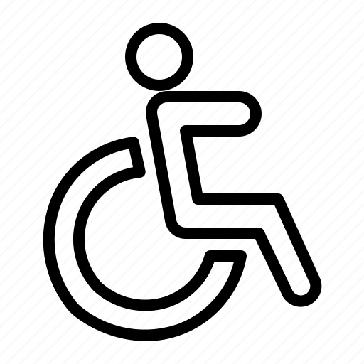 disability, medical, wheel chair icon