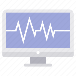 computer, device, ecg, monitor, pc, screen, technology icon