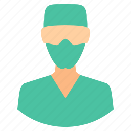 doctor, male, mask, medical, pratitioner, surgeon icon